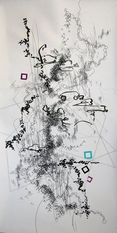 Passing Through, Drawing, Pen & Ink on Paper