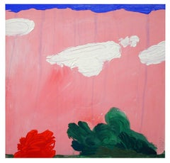 pink landscape, Painting, Acrylic on Canvas