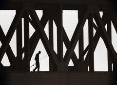 Fisherman On Bridge, Photograph, Archival Ink Jet