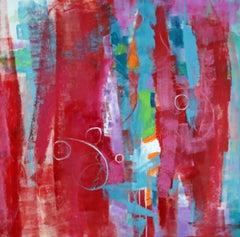 Romantic Encounter, Painting, Acrylic on Canvas