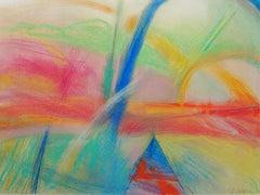 landscape 17, Drawing, Pastels on Paper