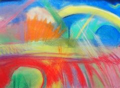 landscape 11, Drawing, Pastels on Paper