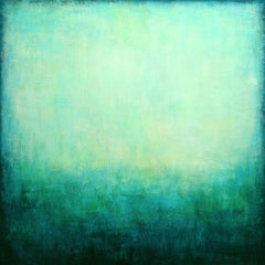 Turquoise Green Dreaming, Painting, Acrylic on Canvas