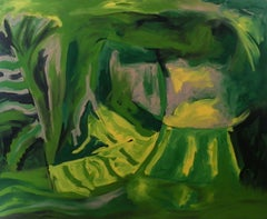 """""""ENTROPY IN GREEN"""", Painting, Acrylic on Canvas"""