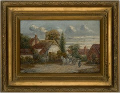 Albert Everard Read (1872-1919) - Signed and Framed Oil, Rustic Village Scene