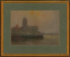 Charles Edward Hannaford RBA (1863-1955) - Watercolour, Continental Church