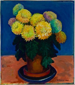 Edith Birkin (1927-2018) - Signed 1990 Oil, Vibrant Still Life Composition