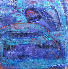 Asleep Beneath the Moon, Painting, Acrylic on Canvas