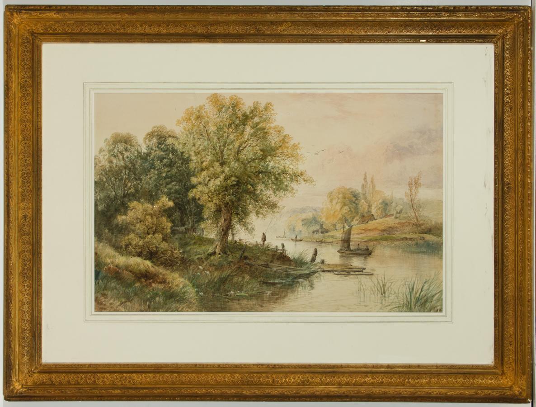 Attributed to Edwin Earp (1851-1945) - Impressive Watercolour, River Landscape