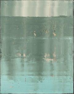 Teal Horizon, Painting, Acrylic on Canvas
