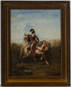 R. Trinidad - Signed & Framed 1907 Oil, The Arab Horseman