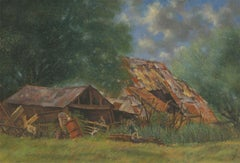 Laurence H.F. Irving (1897-1988) - 20th Century Oil, Farmyard Scene with Figures