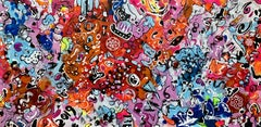 71''X 35''(180X90CM),LIFE IN COLORS 9, Painting, Acrylic on Canvas