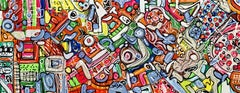 """59X 23,5""""( 150X60CM), LIFE IN COLORS 8, Painting, Acrylic on Canvas"""
