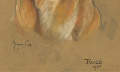 Marjorie Cox (1915-2003) - Signed and Framed 1965 Pastel, A Labrador, 'Russ'
