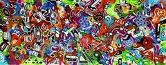 """59X 23,5""""( 150X60CM), LIFE IN COLORS 7, Painting, Acrylic on Canvas"""