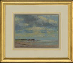 James Longueville PS, RBSA - 20th Century Pastel, Low Tide, The Dee Estuary