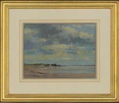 James Longueville PS, RBSA - 20th Century Pastel, Low Tide, The Dee Estuary