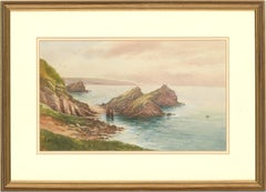 George Henry Jenkins (1843-1914) - Signed Watercolour, Cornish Coast