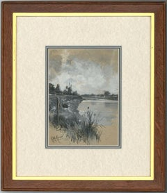 Robert William Arthur Rouse (1867-1951) - Framed Watercolour, The Riverbank