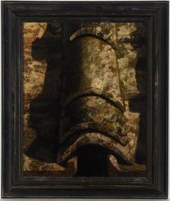 Sandro Bastioli (b.1949) - Very Fine 1999 Oil, Detail of Roof Tiles
