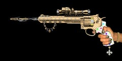 Key Chain Gun, Digital on Glass