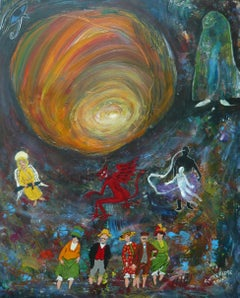 All That Religious Stuff, Painting, Acrylic on Other