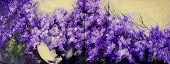 Lilac Flowers, Painting, Oil on Canvas