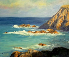 Crashing Waves, Painting, Oil on Canvas