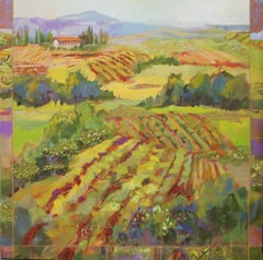 Tuscany View, Painting, Acrylic on Canvas