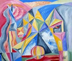 Windmill, Painting, Oil on MDF Panel