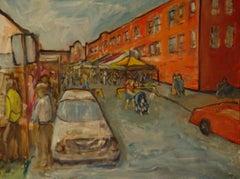 Art Fair On Oliver Street, Painting, Oil on Canvas
