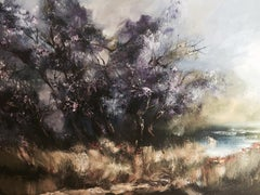 Lavender River, Painting, Oil on Canvas