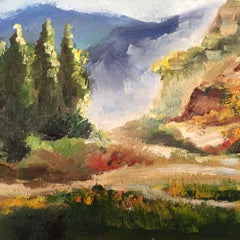 Spanish Countryside, Painting, Oil on Canvas