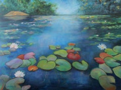 On Thetis Lake, Painting, Oil on Canvas