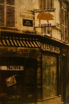 Rue Chappe, Paris, Mixed Media on Paper