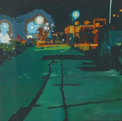 Green Street, Painting, Oil on Wood Panel