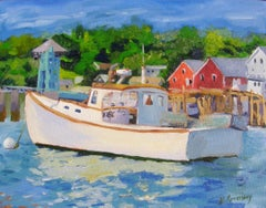 Lobster Boat, Painting, Oil on Canvas