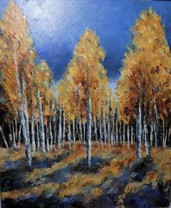 Orange & Blue, Painting, Oil on Canvas