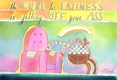 The Cure for Laziness, Painting, Watercolor on Paper