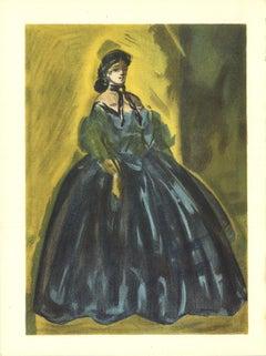 """Lena Leclercq-Les Femmes dans l'atelier-14"""" x 10.25""""-Lithograph-1939-Yellow"""