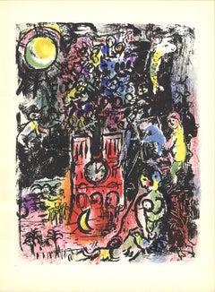 """Marc Chagall-L'Arbre de Jesse-15"""" x 11""""-Lithograph-1960-Modernism-Multicolor"""