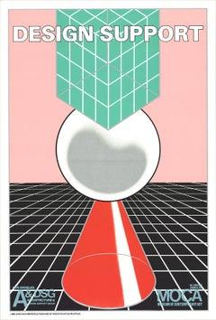 "John van Hamersveld-Design Support-40.25"" x 27.25""-Lithograph-1980-Contemporary"
