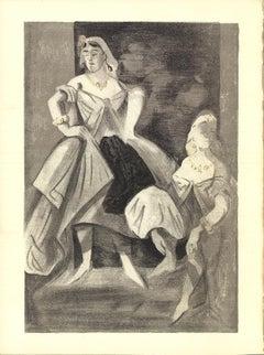 """Lena Leclercq-Les Femmes dans l'atelier-14"""" x 10.25""""-Lithograph-1939-Black"""
