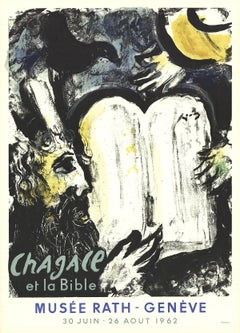 "Marc Chagall-Moses and the Tablets of the Law-29.75"" x 21.25""-Poster-1962"