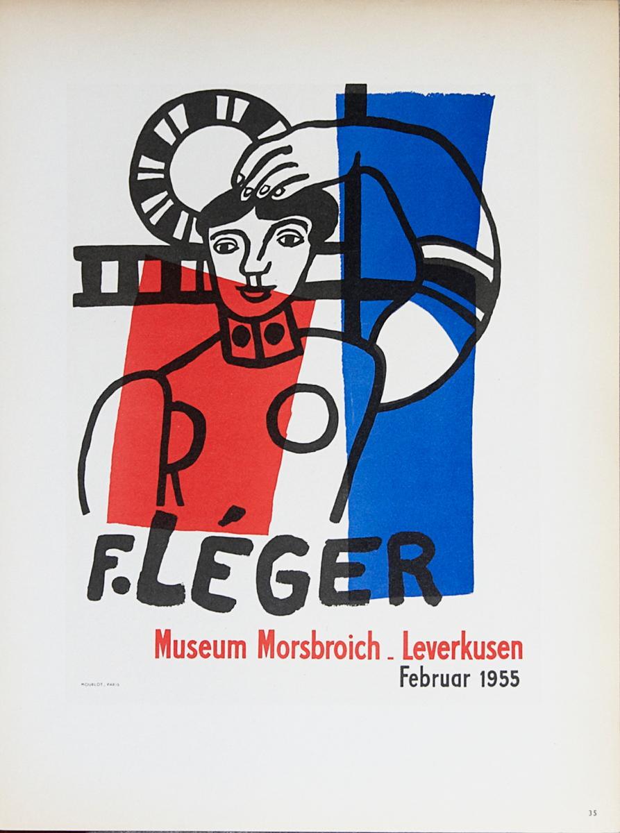 """After Fernand Leger-Museum Morsbroich-12.5"""" x 9.25""""-Lithograph-1959-Modernism"""