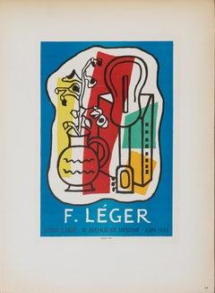 "Fernand Leger-Galerie Louis Carre-12.5"" x 9.25""-Lithograph-1959-Modernism"