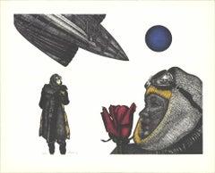 "Paul Van Hoeydonck-Twilight Dream-26.5"" x 32.75""-Lithograph-1982-Outsider Art"