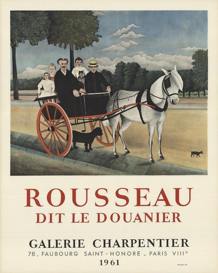 """Henri Rousseau-Dit Le Douanier-25.5"""" x 21""""-Lithograph-1961-Modernism-Multicolor - Print by Henri Rousseau"""