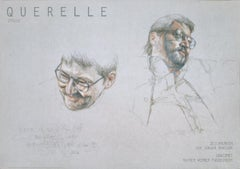"Jurgen Draeger-Querelle Zyklus-23.25"" x 33""-Poster-1982-Contemporary-Gray, White"
